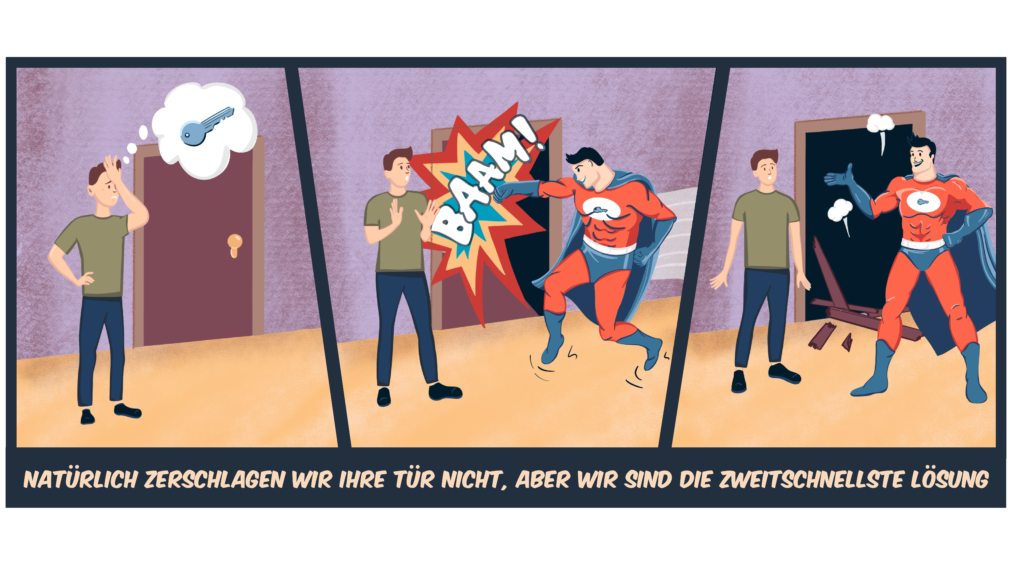Schlosshelden Schlüsseldienst Wien Comic