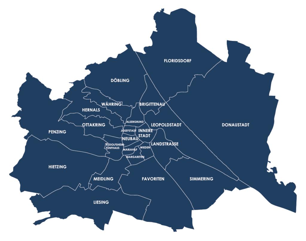 Map Schlosshelden Schlüsseldienst Wien